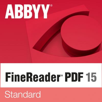 ABBYY FineReader PDF 15 Standard Single User License (ESD) UPGRADE Perpetual