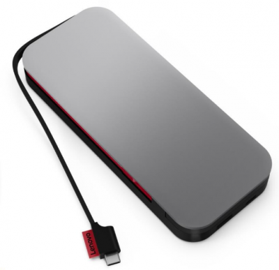 LENOVO Go USB-C Laptop Powerbank 20000mAh sivá